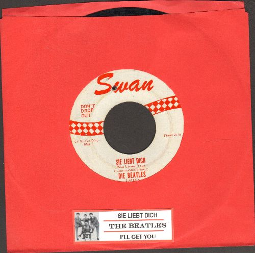 Beatles - Sie Liebt Dich/I'll Get You (RARE first issue, hit sung in German, with juke box label) (bb) - EX8/ - 45 rpm Records