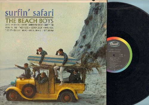 Beach Boys - Surfin' Safari: Summertime Blues, Moon Dawg, Ten Little Indians, Little Miss America, 409, The Shift (Vinyl MONO LP record) - EX8/EX8 - LP Records