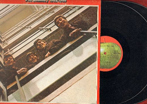 Beatles - The Beatles 1962-1966: Love Me Do, Help!, Michelle, Yesterday, She Loves You, Nowhere Man (2 vinyl LP record set, gate-fold cover) - EX8/EX8 - LP Records