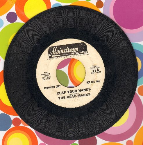 Beau-Marks - Clap Your Hands/Daddy Said (DJ advance pressing) - VG7/ - 45 rpm Records