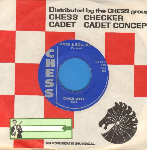 Berry, Chuck - Rock & Roll Music/Blue Feeling (with Chess company sleeve) - EX8/ - 45 rpm Records