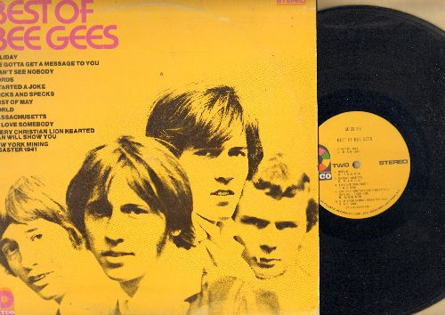 Bee Gees - Best Of Bee Gees: I Started A Joke, Massachusetts, To Love Somebody, New York Mining Disaster 1941 (Vinyl STEREO LP record, yellow label first issue) - VG7/VG7 - LP Records