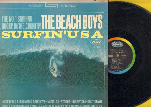 Beach Boys - Surfin' USA: Misirlou, Shut Down, Noble Surfer, Let's Go Trippin', Finders Keepers, Honky Tonk. Lana (Vinyl STEREO LP record) - EX8/EX8 - LP Records