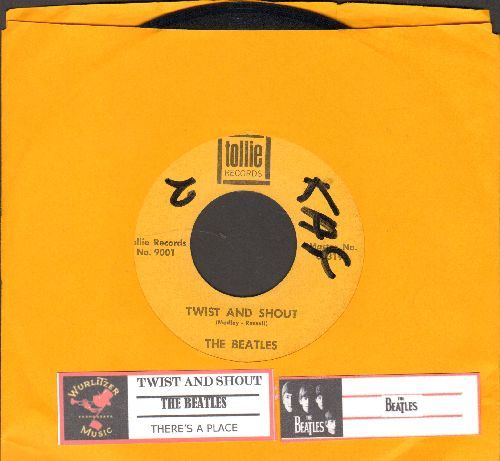 Beatles - Twist And Shout/There's A Place (with juke box label) (wol) - EX8/ - 45 rpm Records