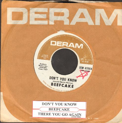 Beefcake - Don't You Know/There You Go Again (with RARE Deram company sleeve and juke box label) - NM9/ - 45 rpm Records
