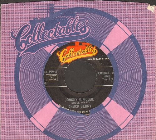 Berry, Chuck - Johnny B. Goode/Little Queenie (double-hit re-issue with company sleeve) - EX8/ - 45 rpm Records