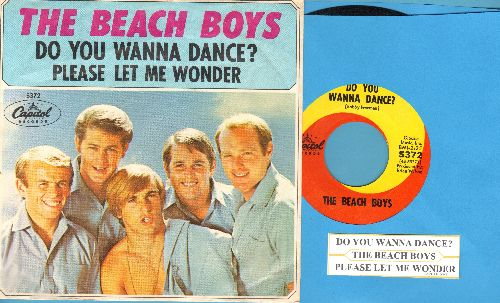 Beach Boys - Do You Wanna Dance/Please Let Me Woner (with picture sleeve and juke box label) - NM9/EX8 - 45 rpm Records