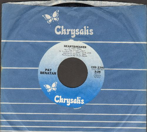 Benatar, Pat - Heartbreaker/My Clone Sleeps Alone (with Chrysalis company sleeve) - NM9/ - 45 rpm Records