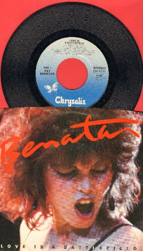 Benatar, Pat - Love Is A Battlefield/Hell Is For Children (LIVE) (with picture sleeve) - NM9/NM9 - 45 rpm Records