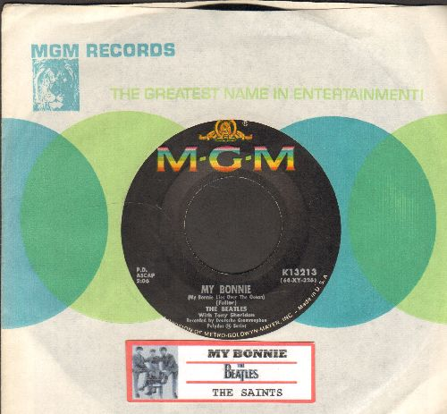 Beatles - My Bonnie/The Saints (with juke box label and MGM company sleeve) - EX8/ - 45 rpm Records