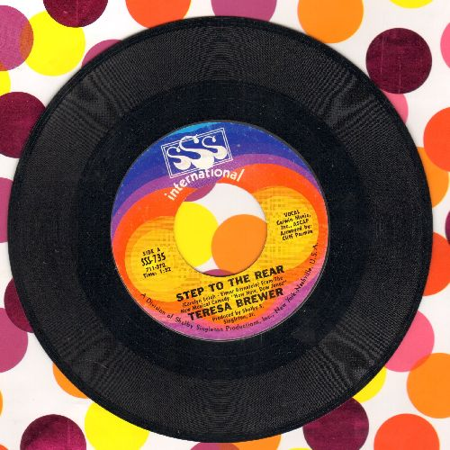 Brewer, Teresa - Step To The Rear/Live A Little (FANTASTIC up-beat 2-sider!) - NM9/ - 45 rpm Records