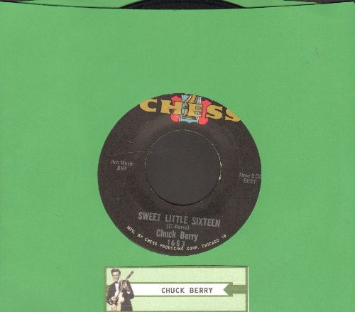Berry, Chuck - Sweet Little Sixteen/Reelin' And Rocking (black label red/blue/gold logo) - VG7/ - 45 rpm Records