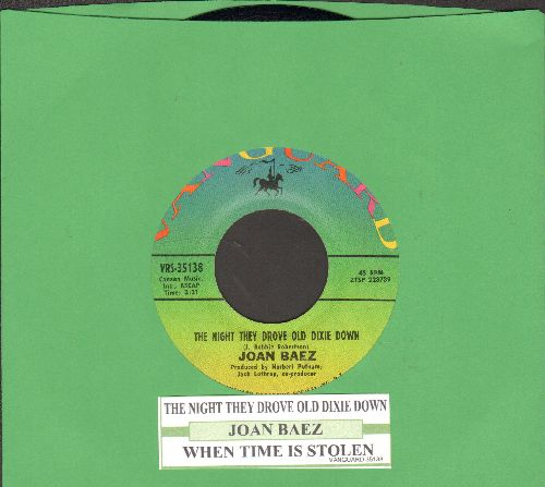 Baez, Joan - The Night They Drove Old Dixie Down (Am Tag als Conny Kramer starb)/When Time Is Stolen (with juke box label) - NM9/ - 45 rpm Records