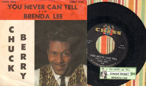 Berry, Chuck - You Never Can Tell (featured in Cult Classic -Pulp Fiction-)/Brenda Lee (with picture sleeve and juke box label) - EX8/EX8 - 45 rpm Records