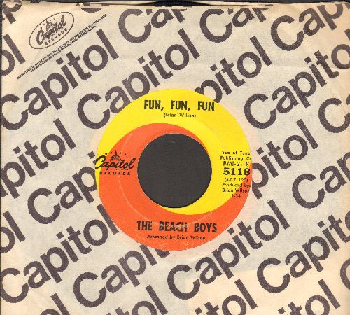 Beach Boys - Fun, Fun, Fun/Why Do Fools Fall In Love (with Capitol company sleeve) - VG7/ - 45 rpm Records