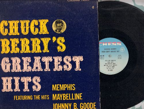 Berry, Chuck - Chuck Berry's Greatest Hits: Johnny B. Goode, Memphis, Maybelline, Roll Over Beethoven, Nadine, Rock And Roll Music (vinyl MONO LP record, light blue label 1970s pressing) - NM9/EX8 - LP Records