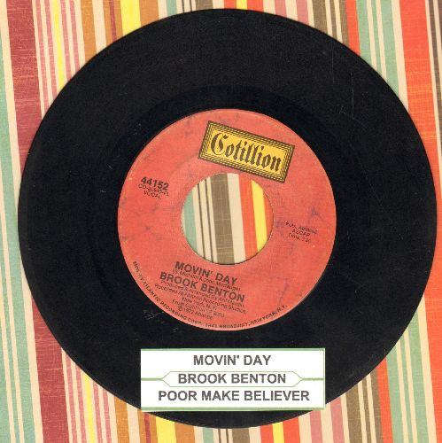 Benton, Brook - Movin' Day/Poor Make Believer (with juke box label) - EX8/ - 45 rpm Records