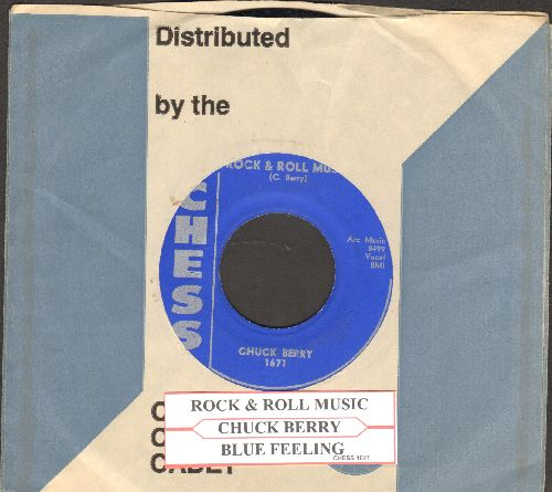 Berry, Chuck - Rock & Roll Music/Blue Feeling (with Chess company sleeve and juke box label) - EX8/ - 45 rpm Records