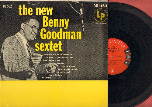 Goodman, Benny Sextet - The New Benny Goodman Sextet: Between The Devil And The Deep Blue Sea, Undecided, Bye Bye Blues (Vinyl MONO LP record, red label, 6 eyes early pressing) - VG7/VG7 - LP Records