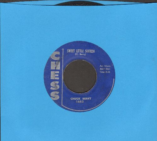 Berry, Chuck - Sweet Little Sixteen/Reelin' And Rocking (with juke box label) (minor lable blemish on B-side) - VG6/ - 45 rpm Records