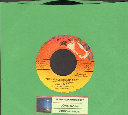 Baez, Joan - The Little Drummer Boy/Cantique De Noel (with juke box label) - EX8/ - 45 rpm Records