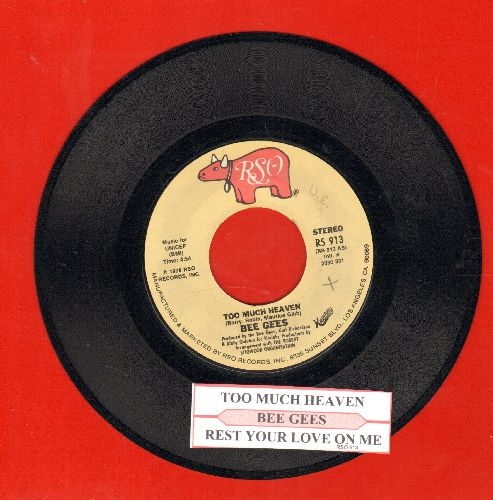Bee Gees - Too Much Heaven/Rest Your Love On Me (with juke box label) - EX8/ - 45 rpm Records
