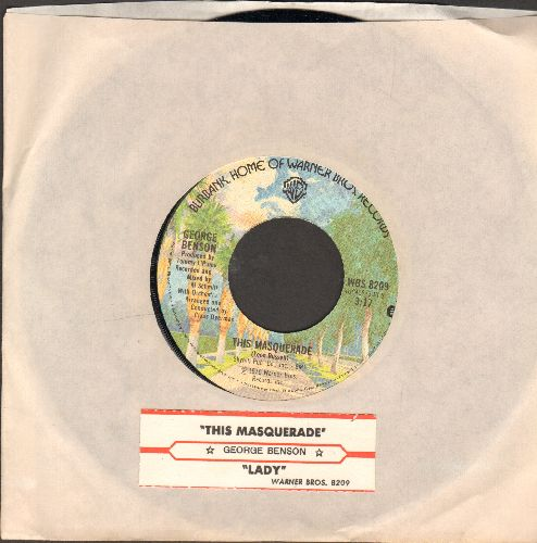 Benson, George - This Masquerade/Lady (with juke box label and Warner Brothers company sleeve) - NM9/ - 45 rpm Records