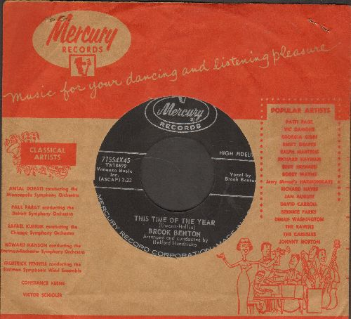 Benton, Brook - This Time Of The Year/Nothing In The Word (with vintage Mercury company sleeve) - EX8/ - 45 rpm Records