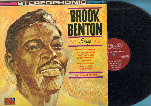 Benton, Brook - Brook Benton Sings: Just Tell Me When, The Thrill Is Gone, Steppin' Out Tonight, Be Careful It's My Heart, You Do Something To Me (Vinyl STEREO LP record) - NM9/EX8 - LP Records