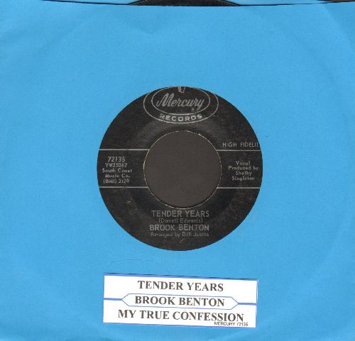 Benton, Brook - Tender Years/My True Confession (with juke box label) - EX8/ - 45 rpm Records
