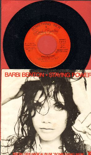 Benton, Barbi - Staying Power (double-A-sided DJ advance pressing with picture sleeve) - NM9/EX8 - 45 rpm Records
