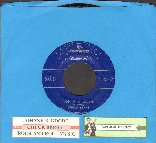 Berry, Chuck - Rock & Roll Music/Johnny B. Goode (double-hit re-issue with juke box label) - NM9/ - 45 rpm Records