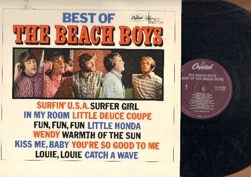 Beach Boys - Best Of: Surfin' U.S.A., Surfer Girl, Little Honda, Wendy, Louie Luoie, Fun Fun Fun (vinyl STEREO LP record, purple label 1980s pressing) - EX8/EX8 - LP Records