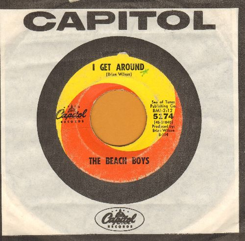 Beach Boys - I Get Around/Don't Worry Baby (with Capitol company sleeve) - VG7/ - 45 rpm Records
