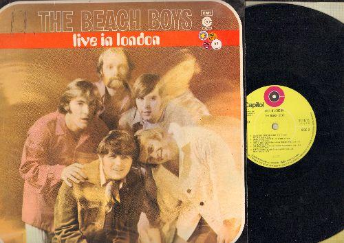 Beach Boys - LIVE In London: Wouldn't It Be Nice, Sloop John B., California Girls, Good Vibrations, Barbar Ann (vinyl STEREO LP record, British Pressing) - NM9/EX8 - LP Records