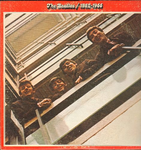 Beatles - The Beatles/1962-1966: Love Me Do, Help!, Michelle, Yesterday, She Loves You, Nowhere Man (2 vinyl LP record set, gate-fold cover) - EX8/VG7 - LP Records