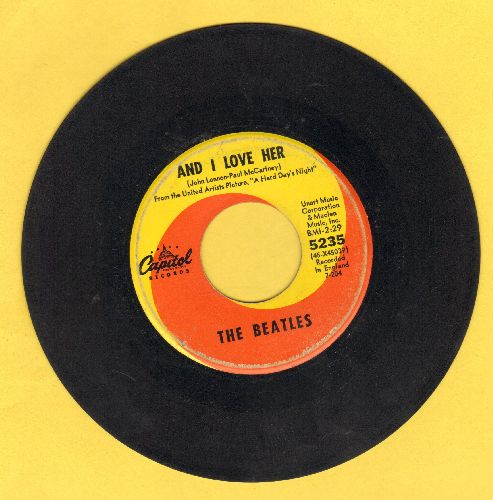 Beatles - And I Love Her/If I Fell - VG6/ - 45 rpm Records