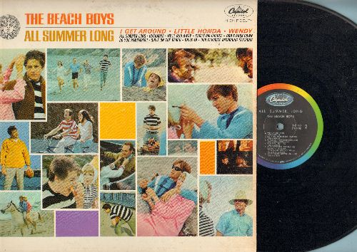 Beach Boys - All Summer Long: I Get Around, Little Honda, Wendy, Hushabye, Do You Remember? 9vinyl MONO LP record, rainbow circle label first pressing) - VG7/VG7 - LP Records