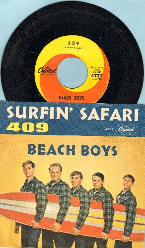 Beach Boys - Surfin' Safari/409 (with RARE picture sleeve) (wol) - EX8/EX8 - 45 rpm Records
