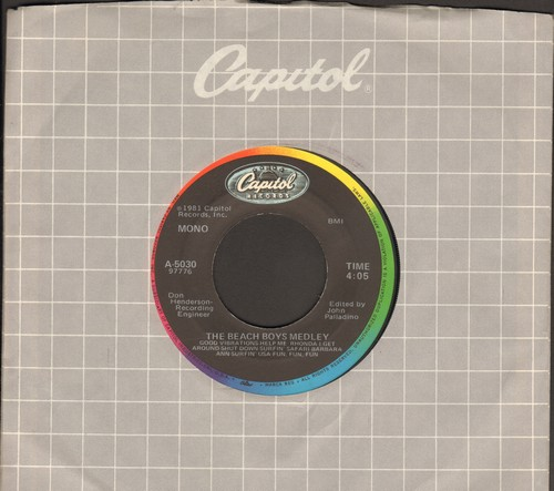 Beach Boys - The Beach Boys Medley/God Only Knows (with Capitol company sleeve) - NM9/ - 45 rpm Records