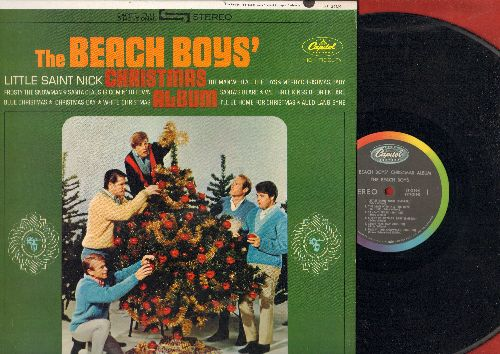 Beach Boys - The Beach Boy's Christmas Album: Little Saint Nick, Santa Claus Is Comin' To Town, Frosty The Snowman, I'll Be Home For Christmas (vinyl STEREO LP record, rainbow-circle label) - EX8/NM9 - LP Records