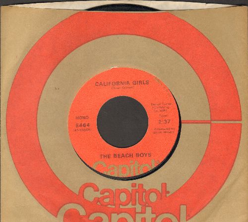 Beach Boys - California Girls/Let Him Run Wild (1970s pressing with Capitol company sleeve) - VG7/ - 45 rpm Records