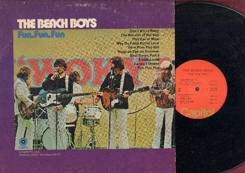 Beach Boys - Fun, Fun, Fun: Don't Worry Baby, Louie Louie, Why Do Fools Fall In Love (vinyl LP record, early re-issue of