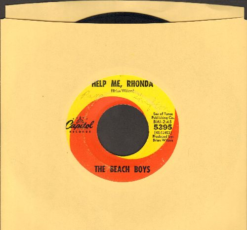 Beach Boys - Help Me, Rhonda/Kiss Me, Baby - VG7/ - 45 rpm Records
