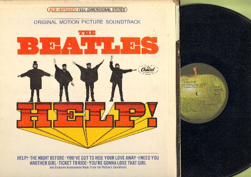 Beatles - Help! - Original Motion Picture Soundtrack (vinyl STEREO LP record, gate-fold cover) - NM9/VG7 - LP Records