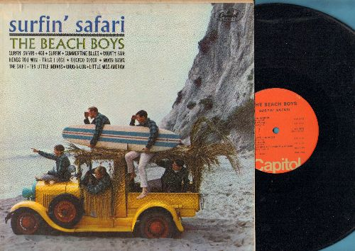 Beach Boys - Surfin' Safari: 409, Moon Dawg, Ten Little Indians, Little Miss America (vinyl LP record, 1970s issue of vitage recordings) - NM9/VG7 - LP Records