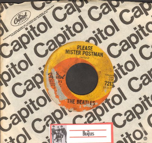 Beatles - Please Mister Poston/Roll Over Beethoven (with Capitol company sleeve) (able blemish) - VG6/ - 45 rpm Records