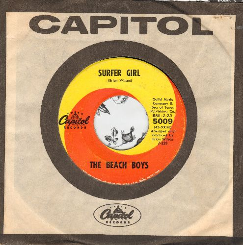 Beach Boys - Surfer Girl/Little Deuce Coupe (with Capitol company sleeve) - EX8/ - 45 rpm Records