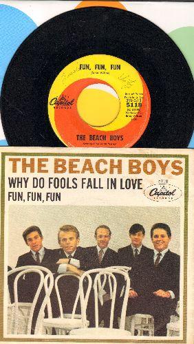 Beach Boys - Fun, Fun, Fun/Why Do Fools Fall In Love  - EX8/EX8 - 45 rpm Records