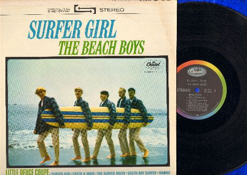 Beach Boys - Surfer Girl: Little Deuce Coupe, In My Room, Boogie Woogie (Vinyl STEREO LP record) - VG7/VG7 - LP Records